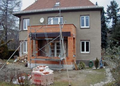 Gründelsteig in Dresden während der Sanierung